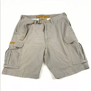 Abercrombie & Fitch Paratroops Belted Cargo Shorts